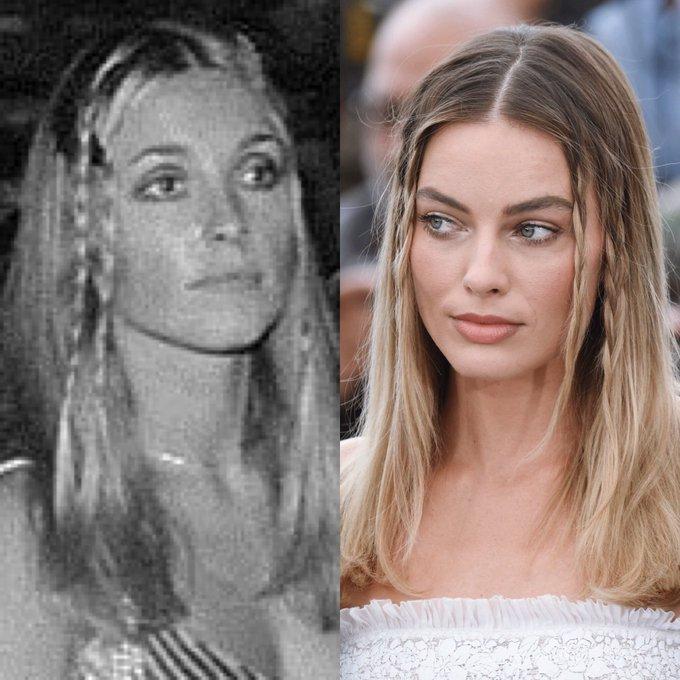 Margot Robbie 60s hairstyle