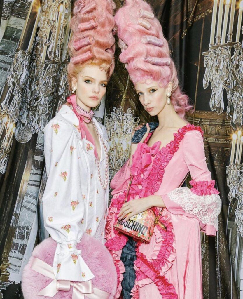Torta di wig al gusto rosa macarons