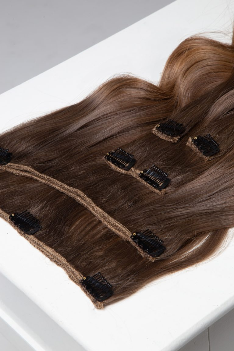 clip-in extension with balayage